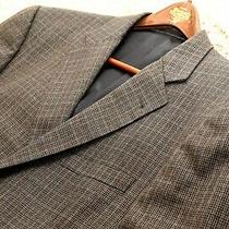 Burberry London Men's Blazer Jacket in Brown Check 44 Photo
