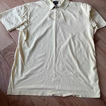 Burberry London Mens Short Sleeve Yellow Polo Golf Shirt Size Large Photo