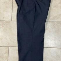 Burberry London Mens Wool Dress Pants Size 38 Blue Photo