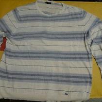 Burberry London Mens Xl Linen Sweater Lightweight Stripes Photo