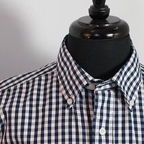 Burberry London Navy Gingham Check Shirt Photo