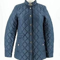 Burberry London  Navy Poly Women's Long Sleeve Snap Quilted Jacket Size Xs Photo