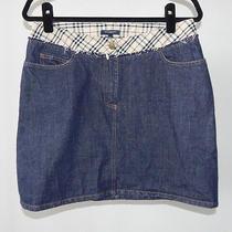 Burberry London Nova Check Denim Mini Skirt - Us 10 Photo
