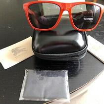 Burberry London Orange Foldable Sunglasses With Case and Labels Unused Photo