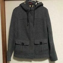 Burberry London Short Coat Gray Color Women Size 42 Outerwear Long Sleeve Used Photo