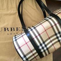 Burberry London Small Bowling Bag Horseferry Check Authentic Like New Photo