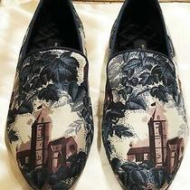 Burberry London Textile Multicolor Low Heel Oxford Shoes Size 39/9  New Photo