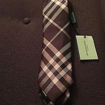 Burberry London Tie Mahogany Red New Photo