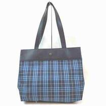 Burberry London Tote Bag  Blue Nylon 1705108 Photo