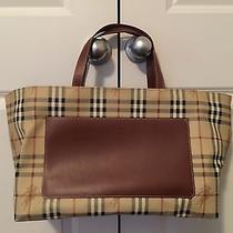 Burberry London Tote Bag Leather Purse Photo