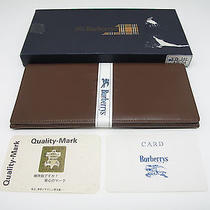 Burberry London Wallet Leather Dirk Brown W/original Box Authentic5464 Photo