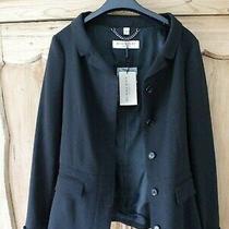 Burberry London Walsham Jacket Coat Blazer Belted Black Size 12 Photo