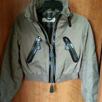 Burberry London Women's Cropped Bomber Jacket Size 6 Us Photo