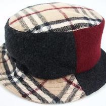 Burberry London Wool Cashmere Nova Check Colorblock Bucket Hat Scotland Sz S Photo