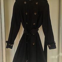 Burberry Luxury Black Wool Blend Trench Coat  Photo