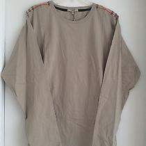 Burberry Man's Shoulder Patch Long Sleeve Tshirt Photo