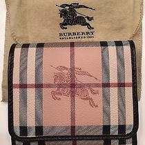 Burberry Medium Haymarket Leighton Wallet Nwt Photo