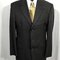 Burberry Men's Brown Plaid Wool Blazer Jacket Sport Coat 40r Photo