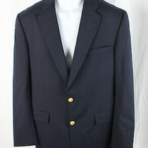Burberry Men's Navy Blue Two Button Blazer Jacket Size 40 R Photo