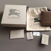 Burberry Men's Wallet Dark Tan Nwt Photo