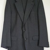Burberry Mens 2 Pc Gray Wool 2 Button Grey Suit Blazer Pants Sz 40 Euc Photo