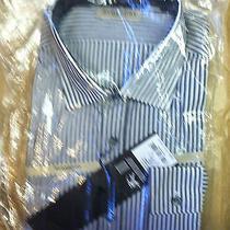Burberry Mens Sanforth Shirt Violet Striped Photo