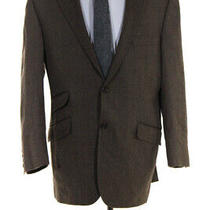 Burberry Mens Wool Two Button Blazer Brown Size 40r Ll19ll Photo