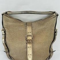 Burberry Metallic Gold Shoulder Handbag Purse Photo