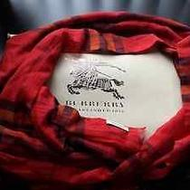 Burberry Muffler Scarf Red New W/box  Photo