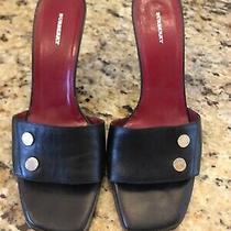 Burberry Mules Sexy Sandals Size 10 Eu 40 Black Leather Studs Slides Heels Photo