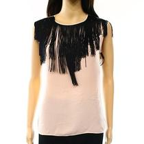 Burberry New Blush Pink Women's Size Small S Fringe Front Blouse 325 Deal Photo