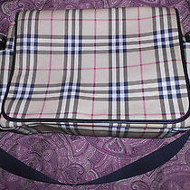 Burberry Nova Check Crossbody Diaper Messenger (Authentic / Mint / Complete) Photo