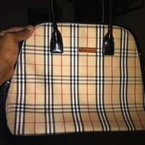Burberry Original Plaid Print Handbag Photo