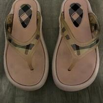 Burberry Plaid Used Slippers Size 35 Photo