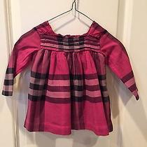 Burberry Pleated-Bodice Check Infant Dress Photo
