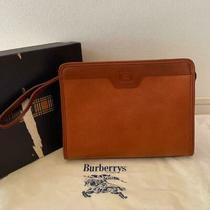 Burberry  Pole Barba Lee Clutch Bag Second Brown Leather Nova Check no.12174 Photo