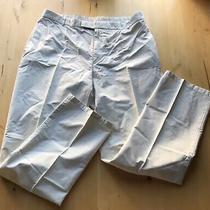 Burberry Premium White Cotton Mens Pants 38 X 32 Photo