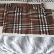 Burberry  Print  Lambswool 100% Lana Wool  Scarf Size 12''x56''  Made in Italy  Photo