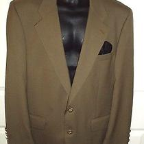 Burberry Prorsum 42 Oregano / Olive Green Blazer Sport Coat Logo Brass Buttons  Photo