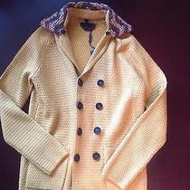 Burberry Prorsum Men's Wool Sweater With Detachable Woven Raffia Collar Size S Photo