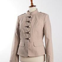 Burberry Prorsum Women's Beige Cotton Blazer Jacket Coat 44it Us8 Us10 M Medium Photo