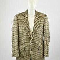 Burberry Pure Cashmere Jacket Size 38 Men's Tweed Blazer Lined Genuine  Photo