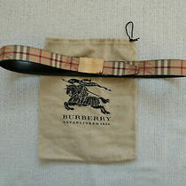 Burberry Pvc Leather Belt Size 37 - 41