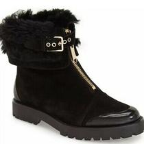 Burberry Quinsley Black Suede Shearling Booties 6 Us/36 Eu 795 Photo