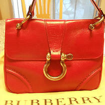 Burberry Red Leather Handbag Photo