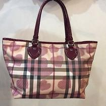 Burberry Red Nova Hearts Large Tote Photo