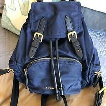 Burberry Rucksack Bag Purse Backpack - Small in Ink Blue W/ Tags and Receipt Photo