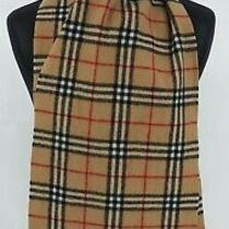 Burberry Scarf 100% Lambswool for Men and Women Made in England Beige 14 Photo