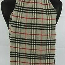 Burberry Scarf 100% Lambswool for Men and Women Made in England Grey Photo