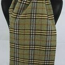Burberry Scarf 100% Lambswool for Men and Women Made in England Green Photo